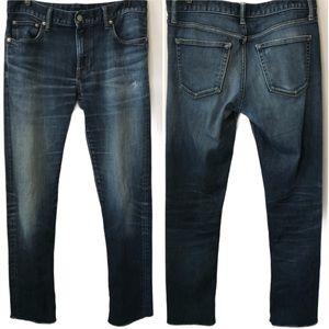 Uniqlo Jeans | Raw Hem Slim Straight Cropped | 31